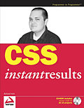 Buchtitel: CSS Instant Results
